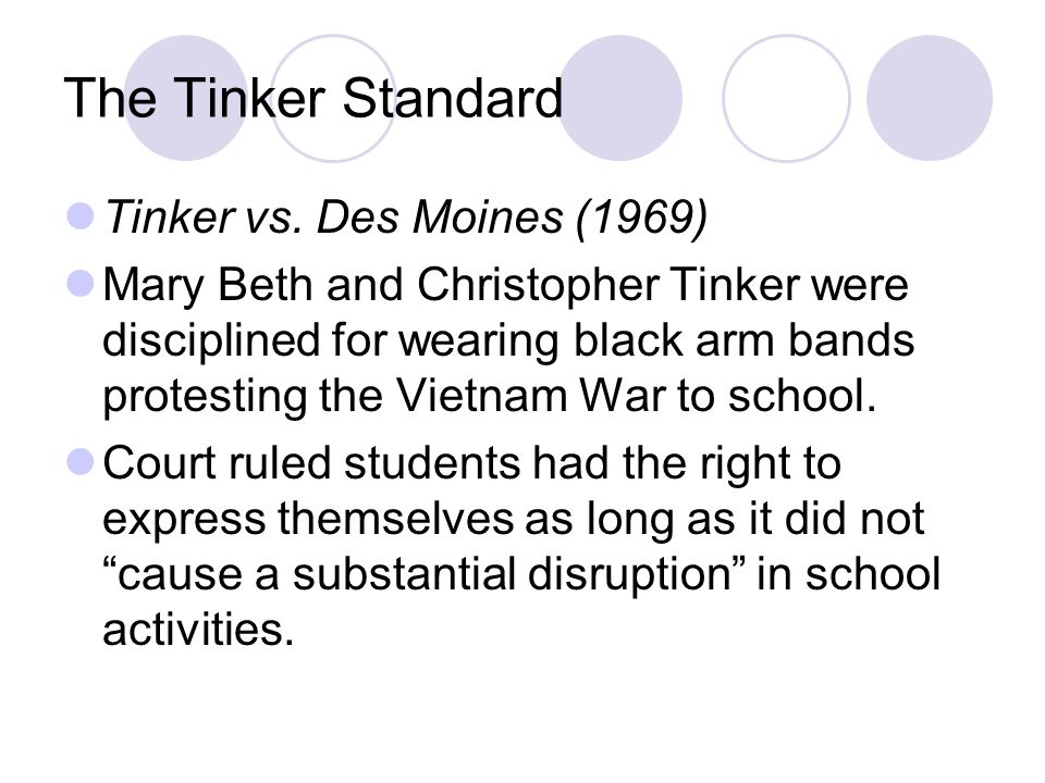The Tinker Standard Tinker vs.