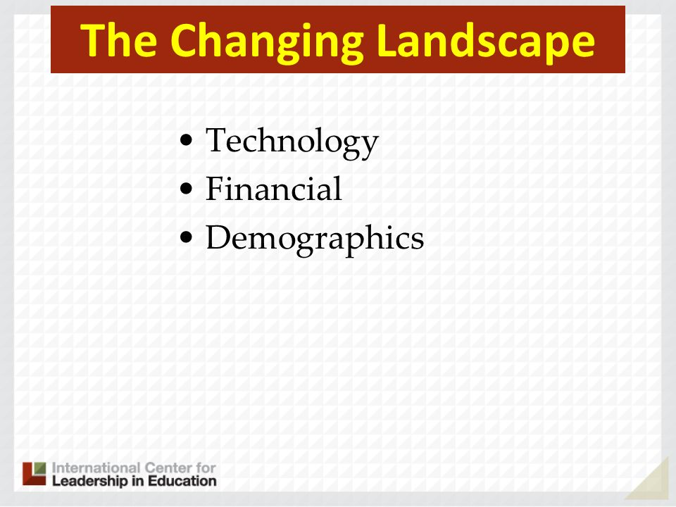 The Changing Landscape Technology Financial Demographics