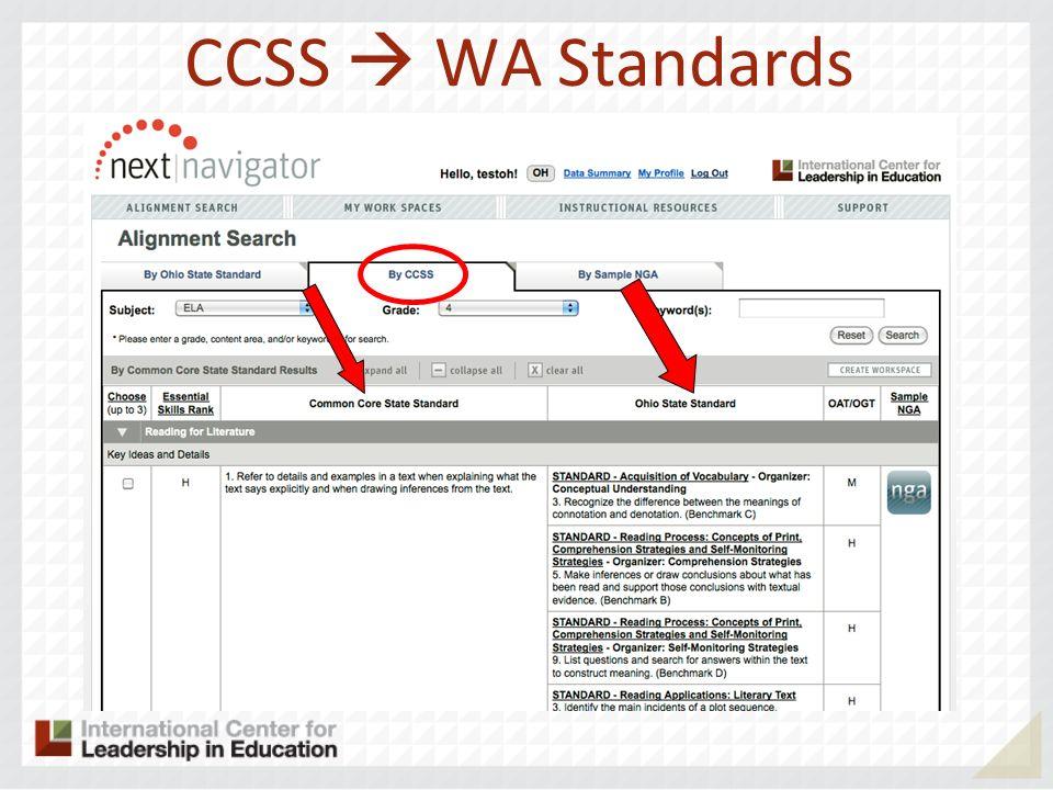 CCSS WA Standards