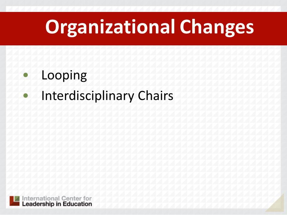 Organizational Changes Looping Interdisciplinary Chairs