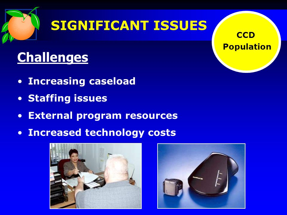 CCD Population Challenges Increasing caseload Staffing issues External program resources Increased technology costs