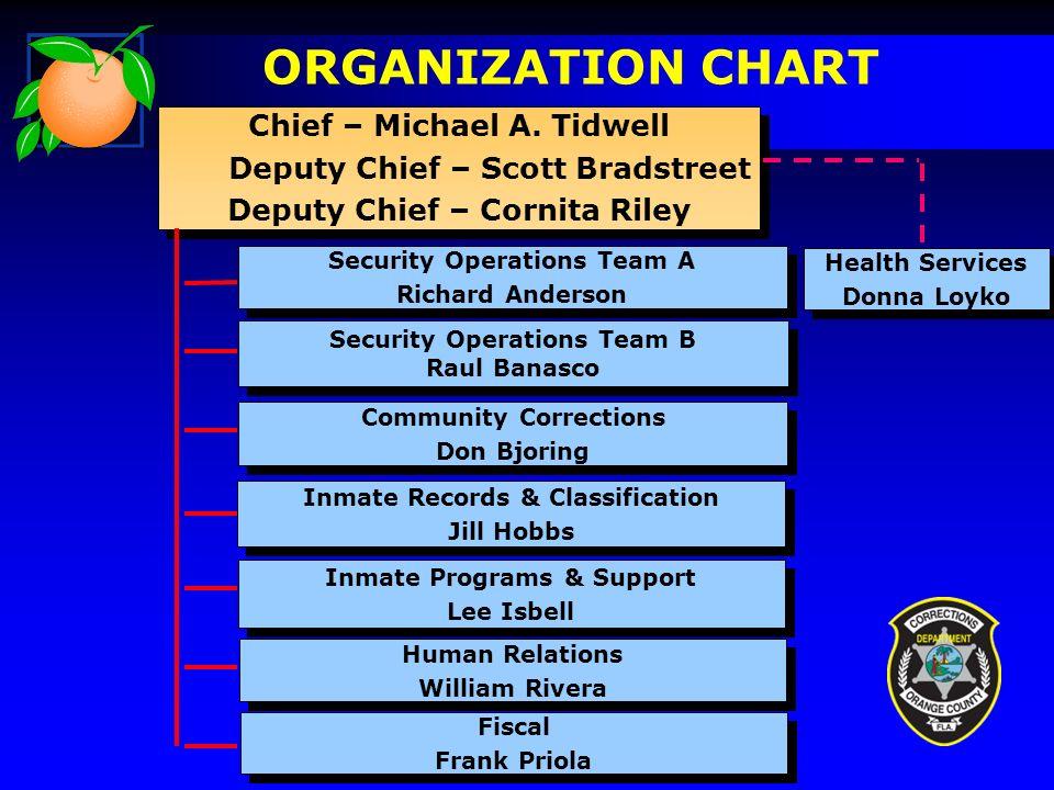 ORGANIZATION CHART Chief – Michael A.