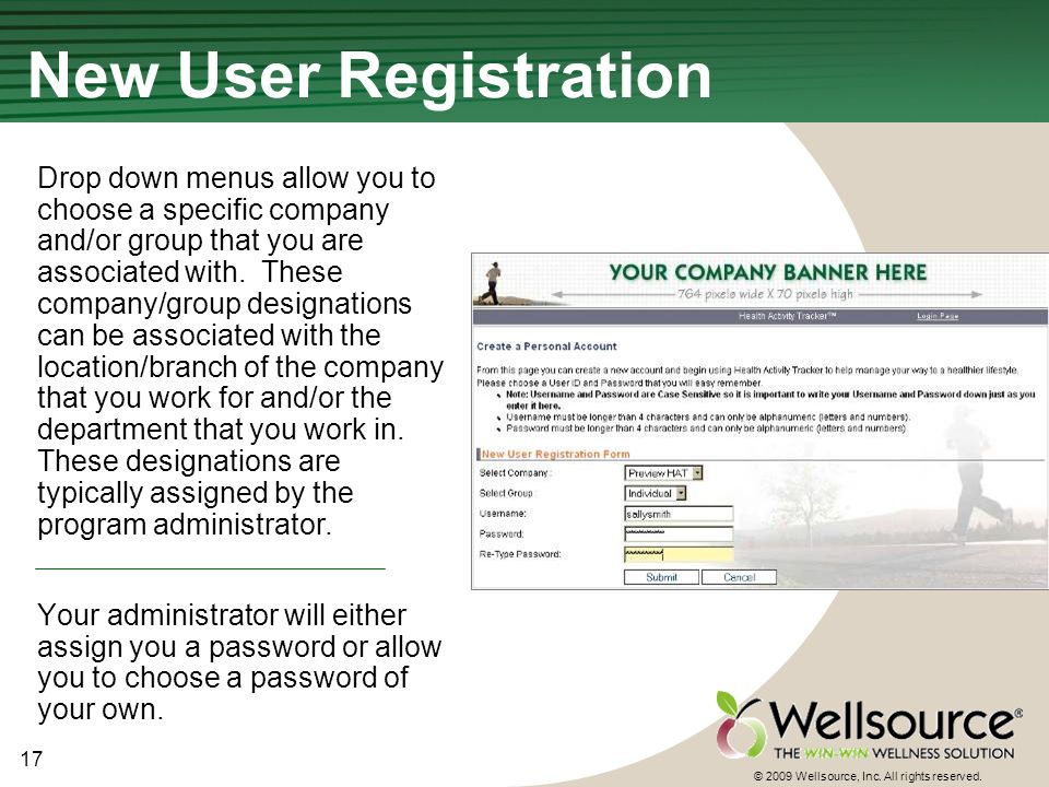 17 © 2009 Wellsource, Inc. All rights reserved.