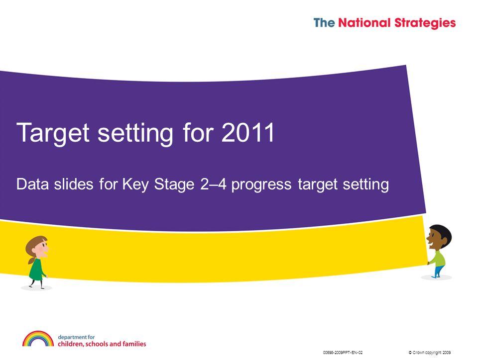 © Crown copyright 2009 Target setting for 2011 Data slides for Key Stage 2–4 progress target setting 00698-2009PPT-EN-02