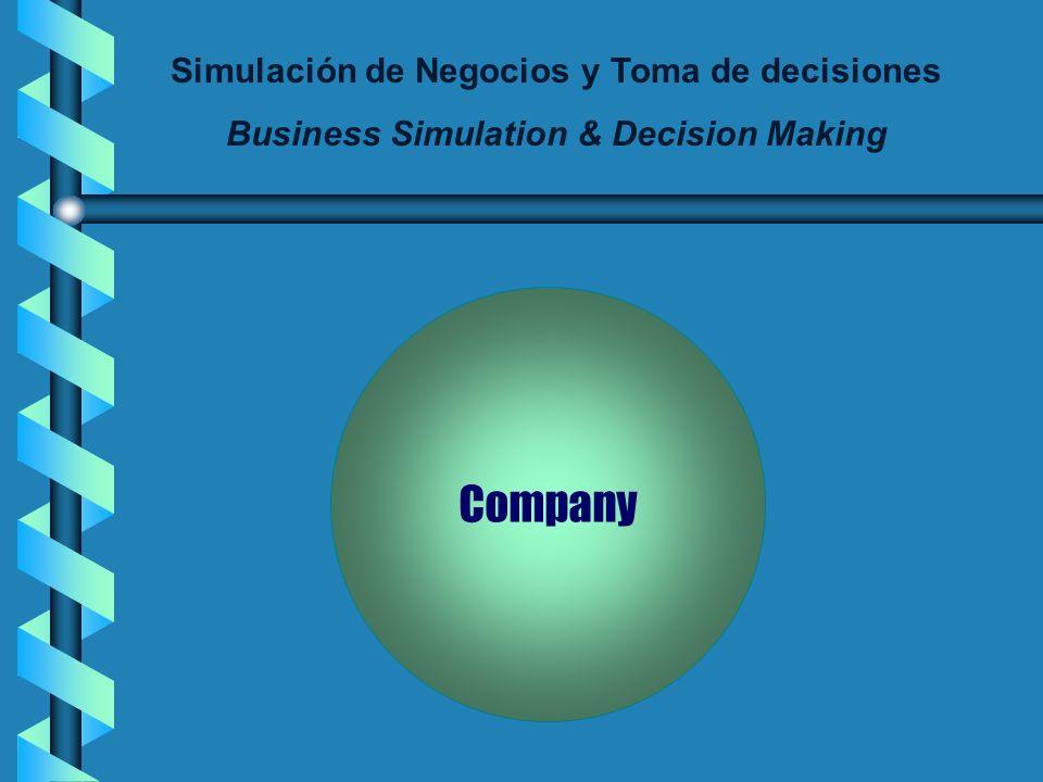 Simulación de Negocios y Toma de decisiones Business Simulation & Decision Making Final evaluation: - Grade type: Number grade (0-10) - Grade percenta