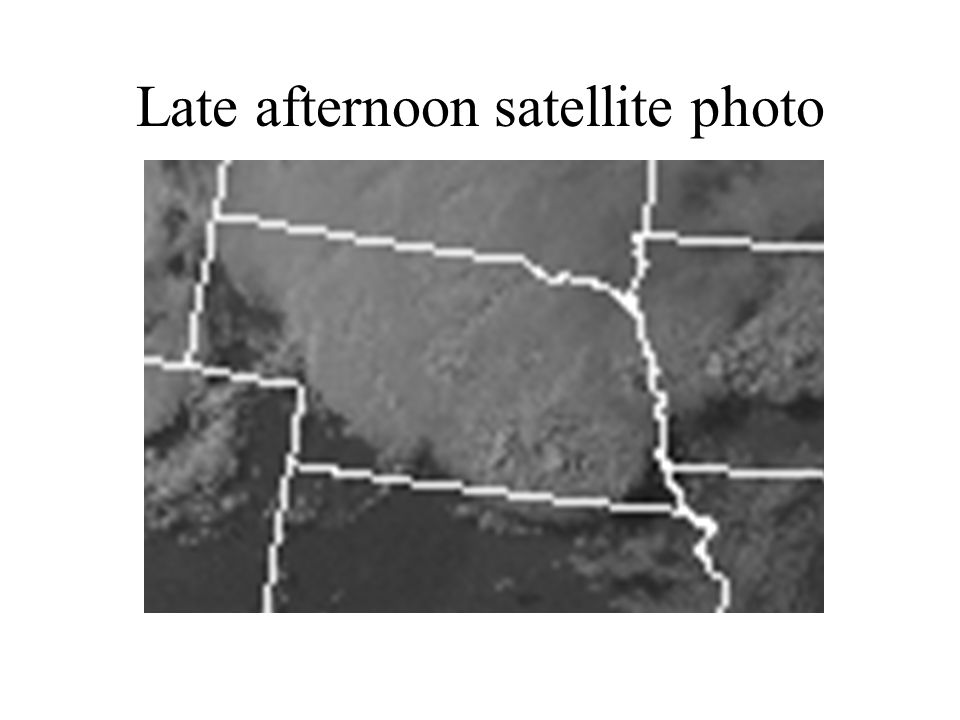 Late afternoon satellite photo
