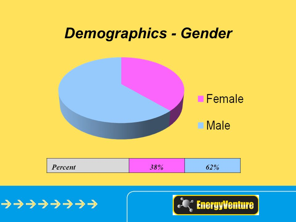 Demographics - Gender Percent38%62%