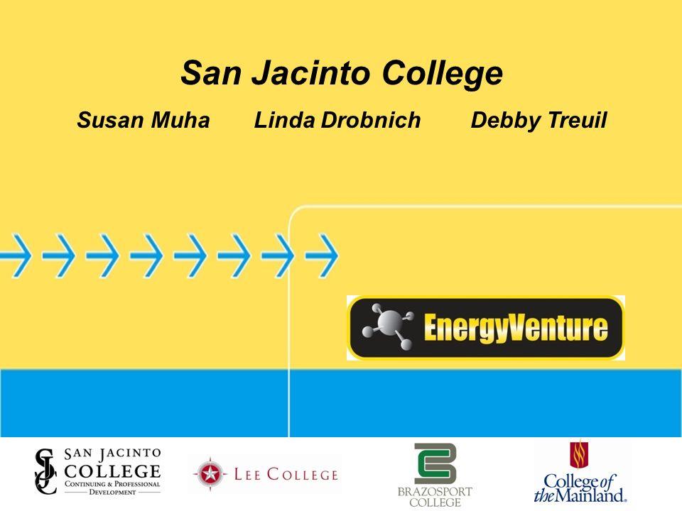 San Jacinto College Susan Muha Linda Drobnich Debby Treuil
