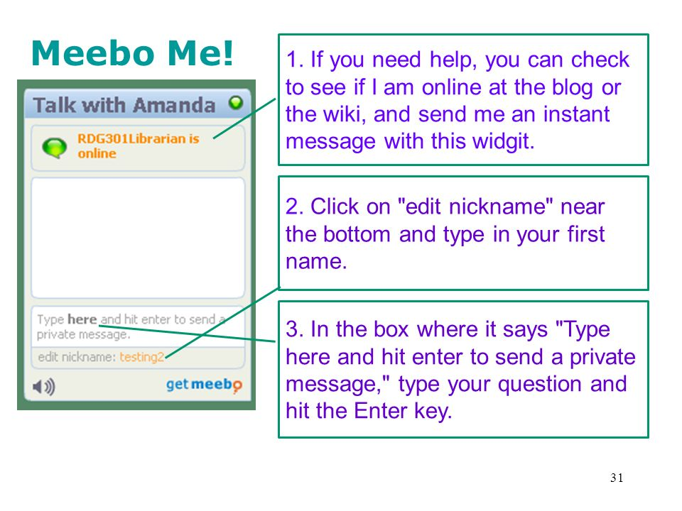 31 Meebo Me. 1.