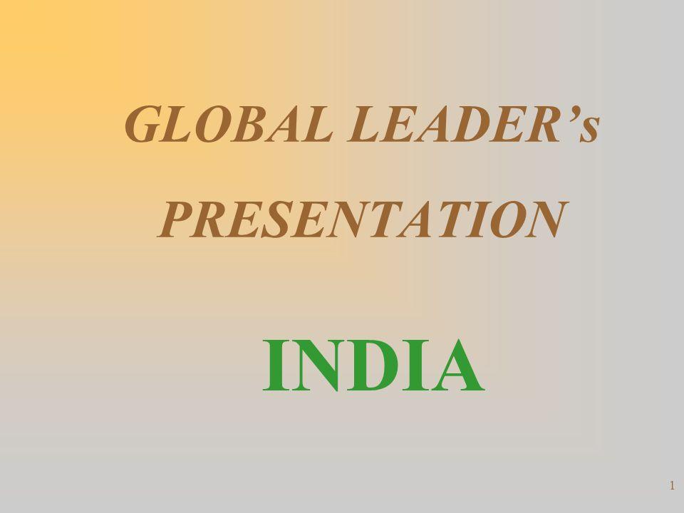 1 GLOBAL LEADERs PRESENTATION INDIA