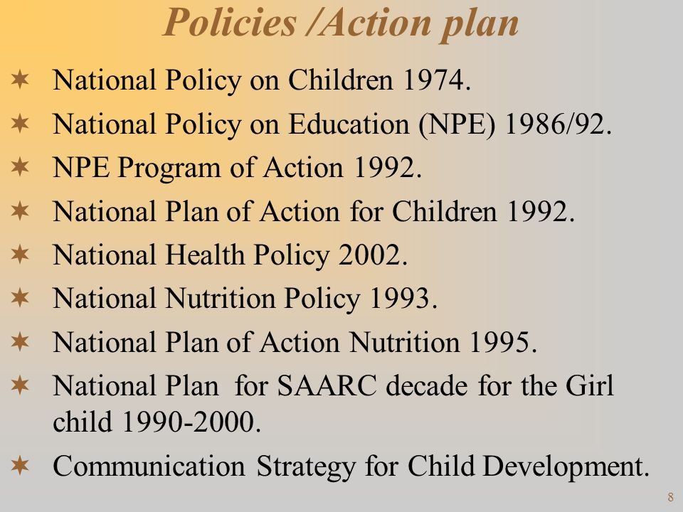 9 Continued National Charter 2003 / National Commission for Children.