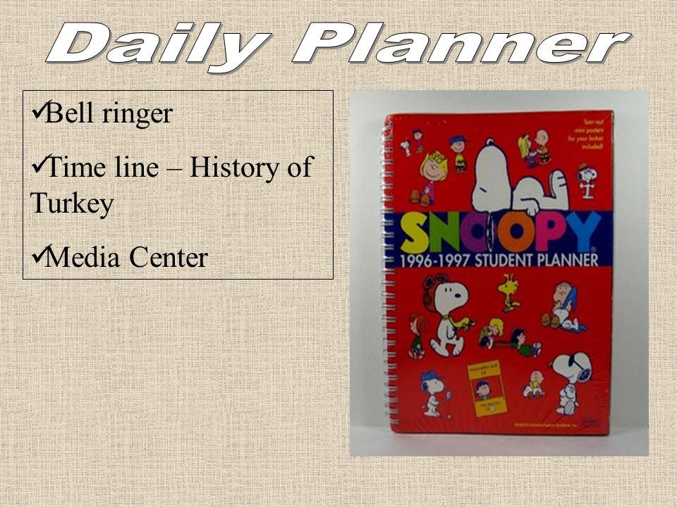 Bell ringer Time line – History of Turkey Media Center