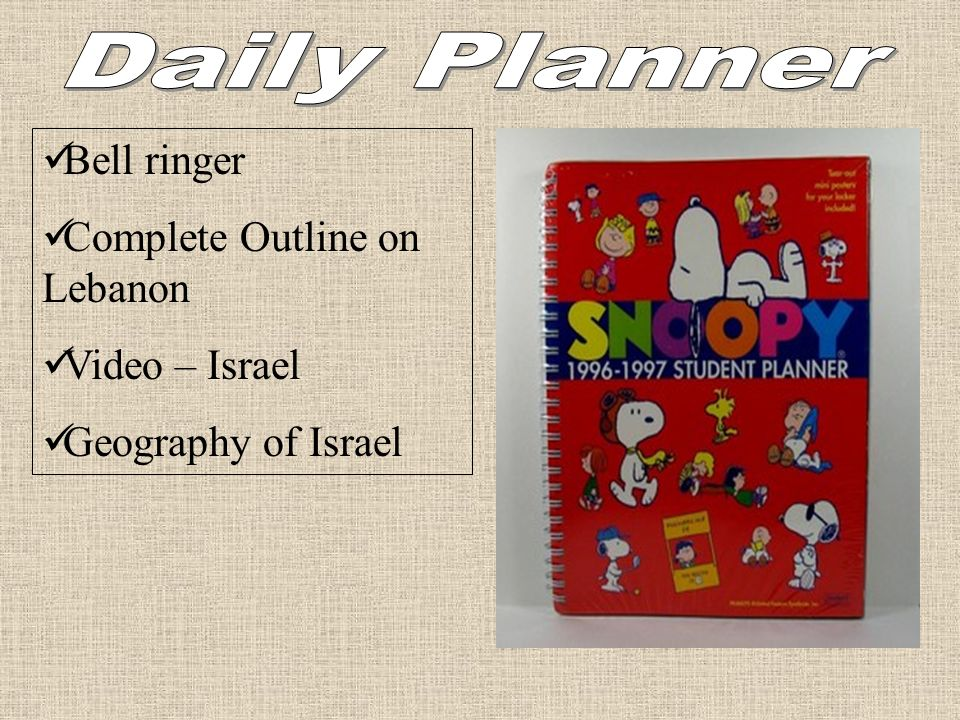 Bell ringer Complete Outline on Lebanon Video – Israel Geography of Israel