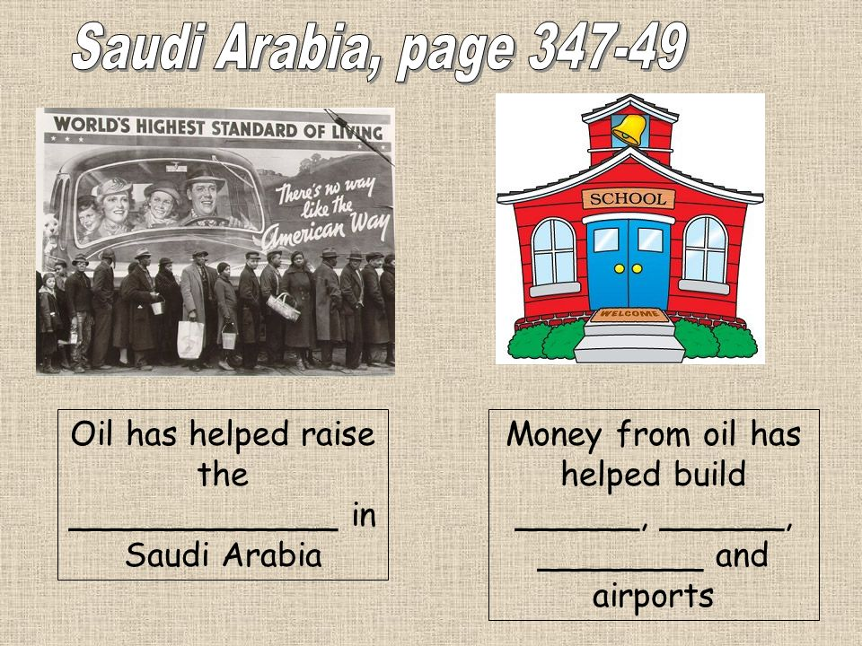 Money from oil has helped build ______, ______, ________ and airports