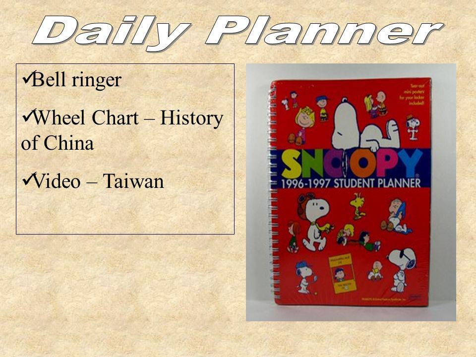 Bell ringer Wheel Chart – History of China Video – Taiwan