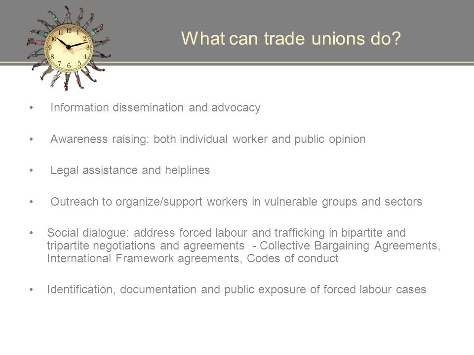 What can trade unions do.