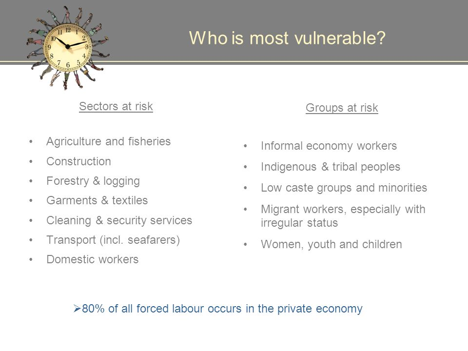 Who is most vulnerable.
