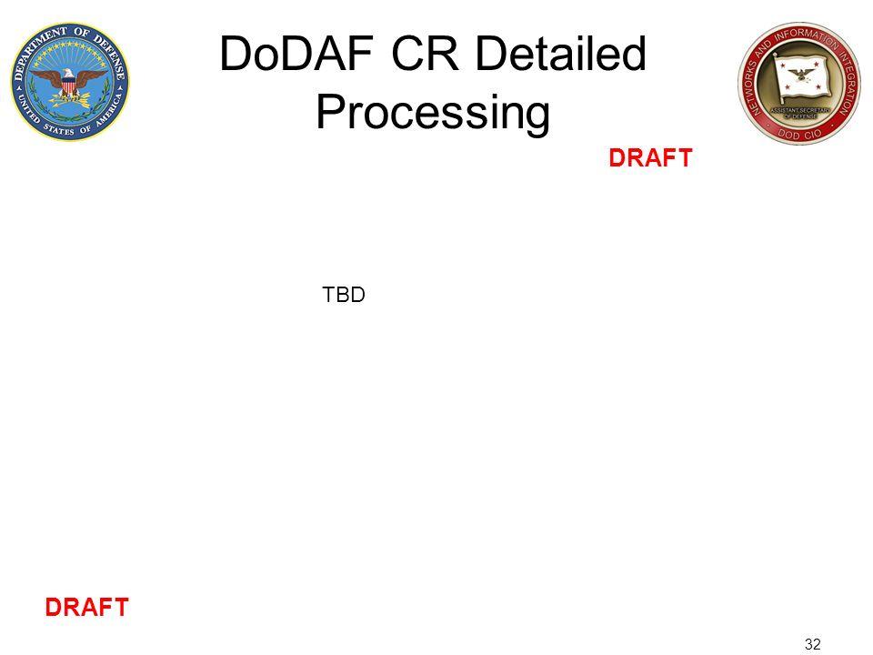 32 DoDAF CR Detailed Processing DRAFT TBD