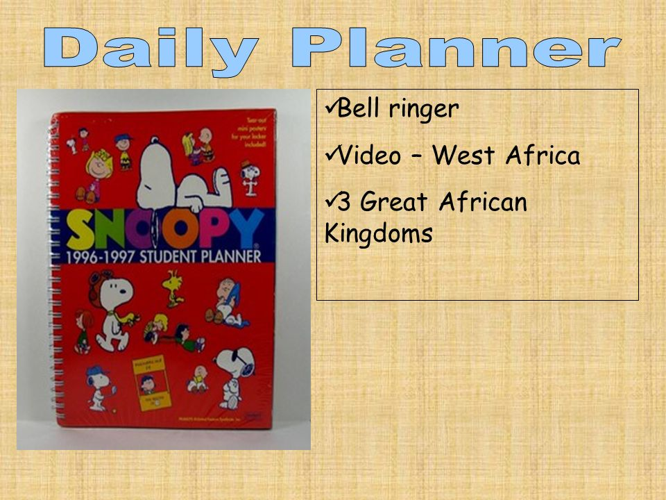 Bell ringer Video – West Africa 3 Great African Kingdoms