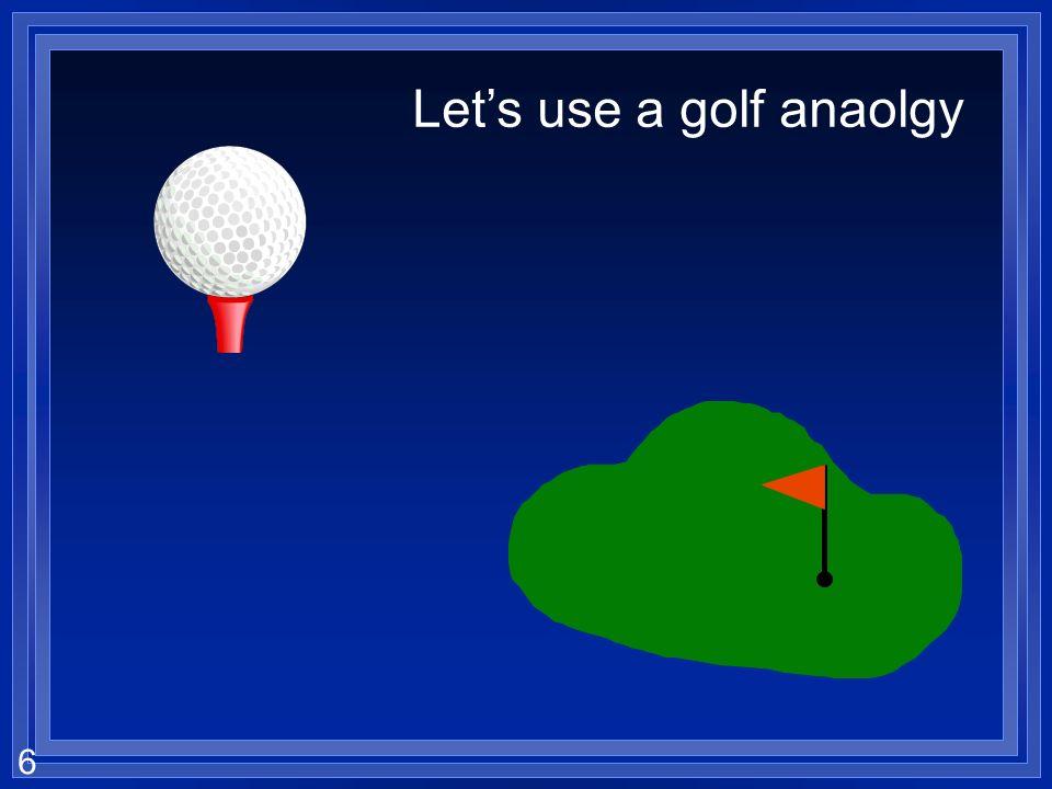 6 Lets use a golf anaolgy