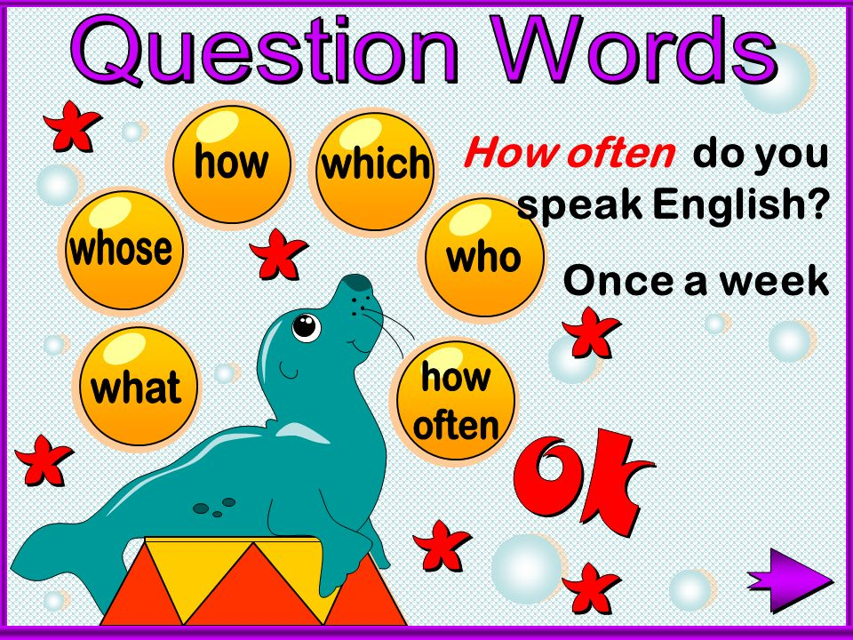 How often do you speak English Once a week