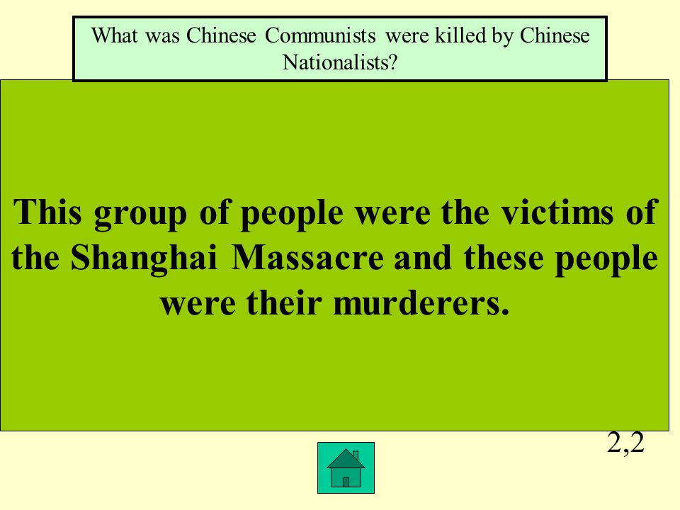 2,1 This was why the Chinese peasants aligned with Communists and not the Nationalist.