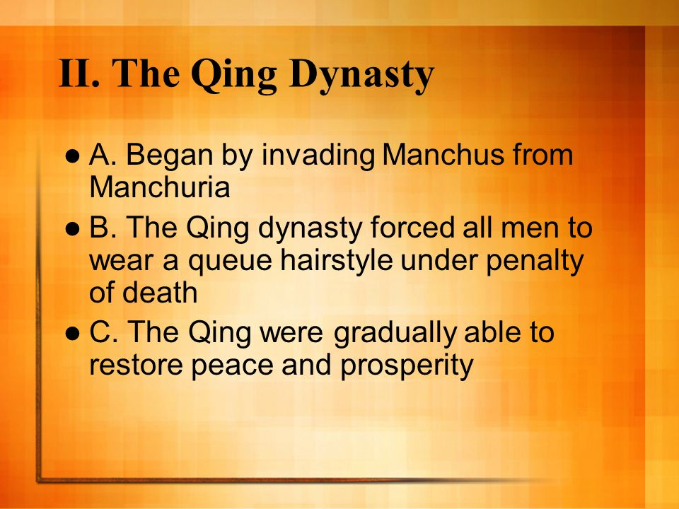G. The Ming dynasty declined due to corruption, high taxes and peasant unrest – 1.