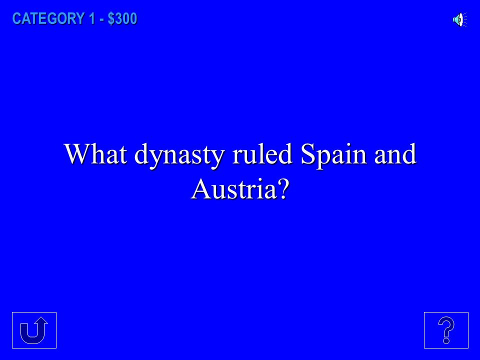 CATEGORY 1 - $200 What dynasty were the absolute rulers of France?