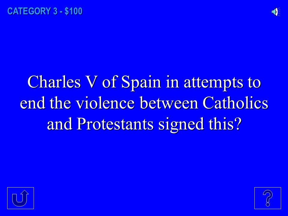 CATEGORY 2 - $500 Phillip II of Spain in his attempts to suppress Protestant rebels in the Low Countries was known as?