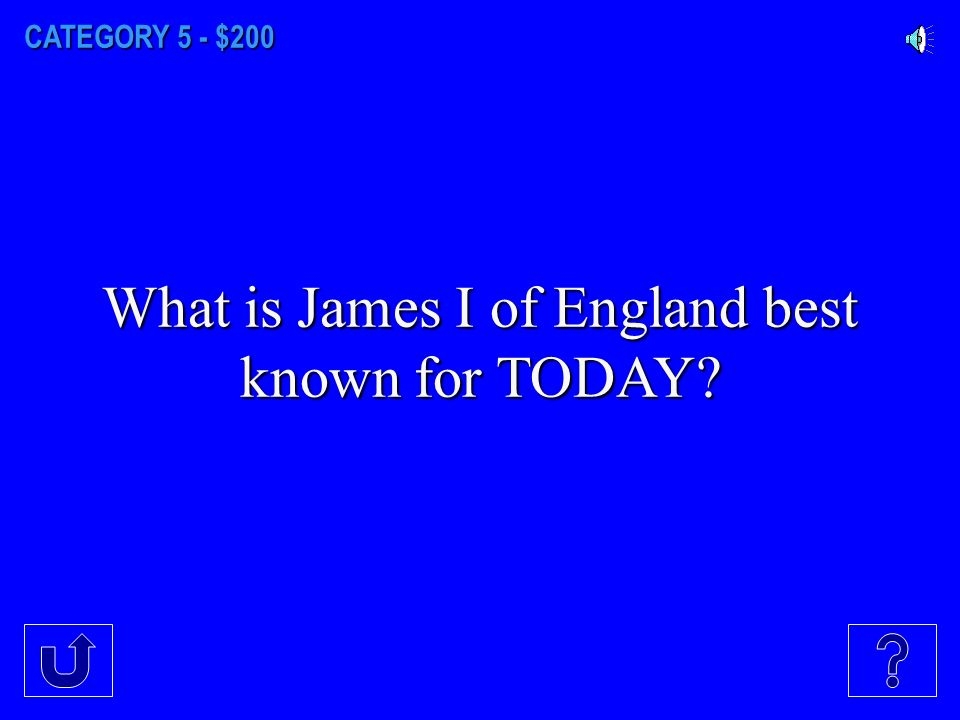 CATEGORY 5 - $100 What was the main effect on England due to the Spanish Armada?
