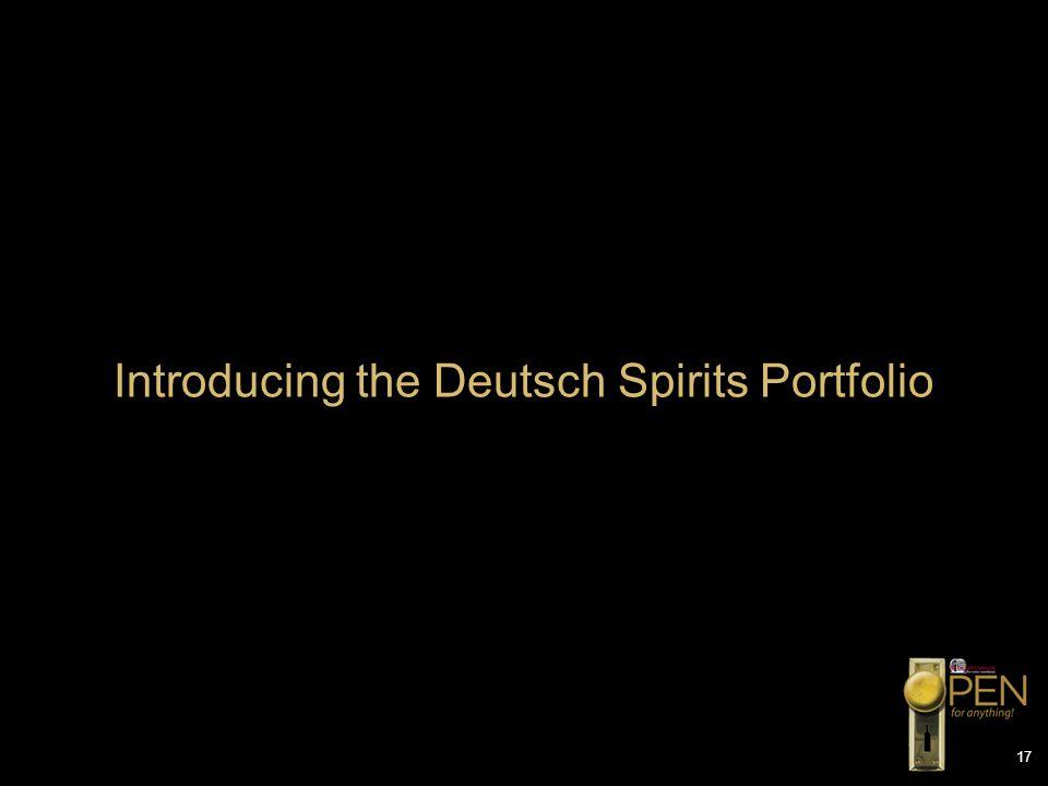 17 Introducing the Deutsch Spirits Portfolio
