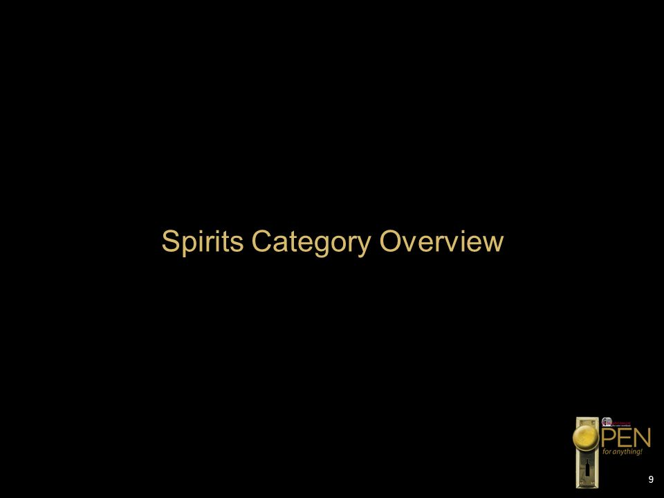 9 Spirits Category Overview
