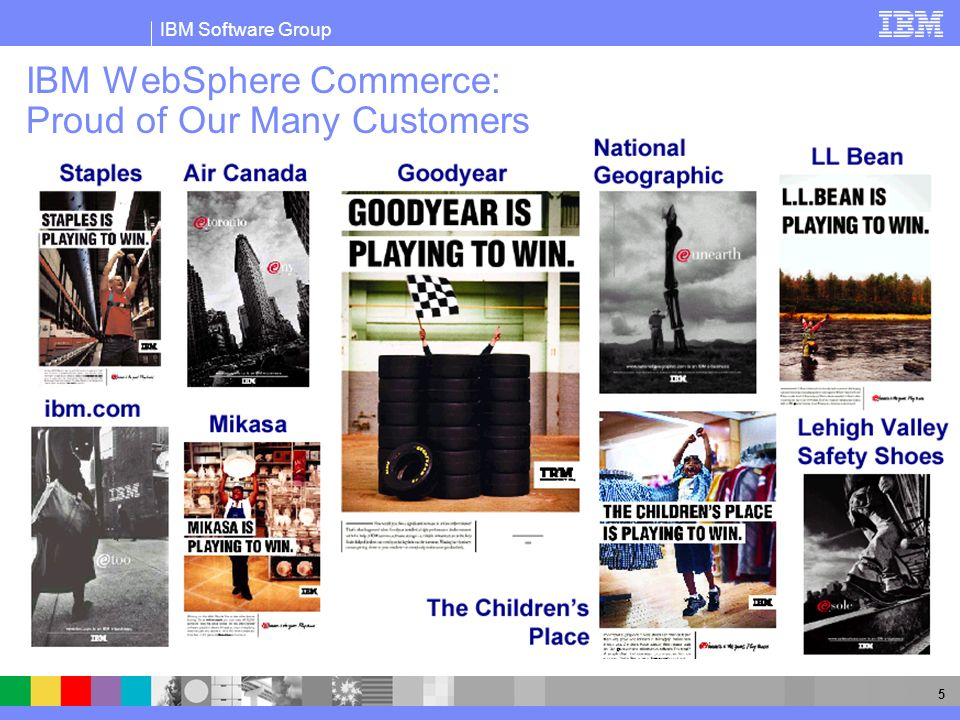 IBM Software Group 5 IBM WebSphere Commerce: Proud of Our Many Customers