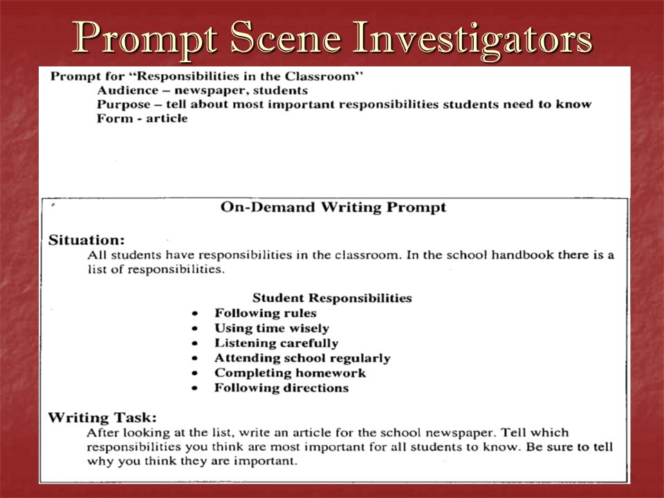 Now its time for you to be a Prompt Scene Investigator!!.