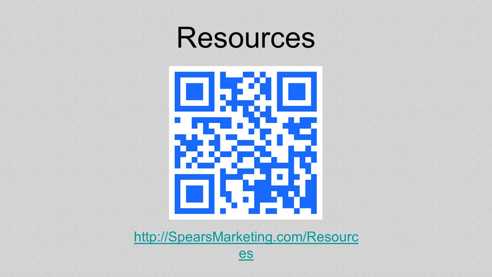 Resources http://SpearsMarketing.com/Resourc es