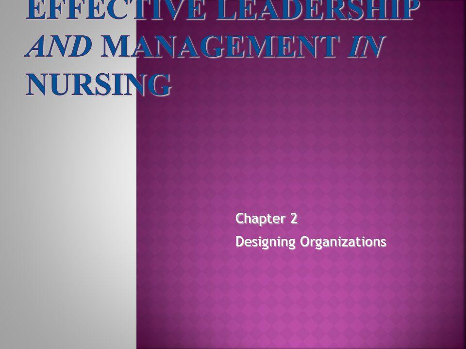 Chapter 2 Designing Organizations