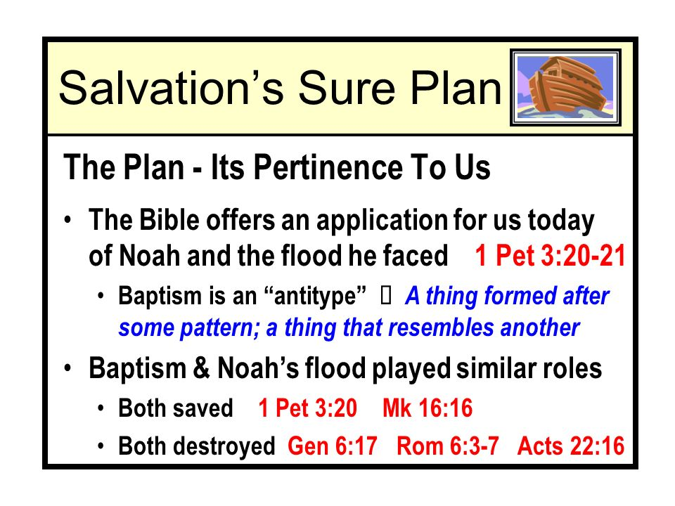 Salvations Sure Plan The Plan - Its Pertinence To Us Ê Our salvation plan is Divinely given cp.