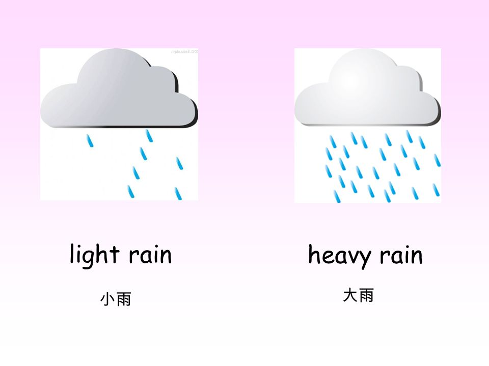 light rain heavy rain