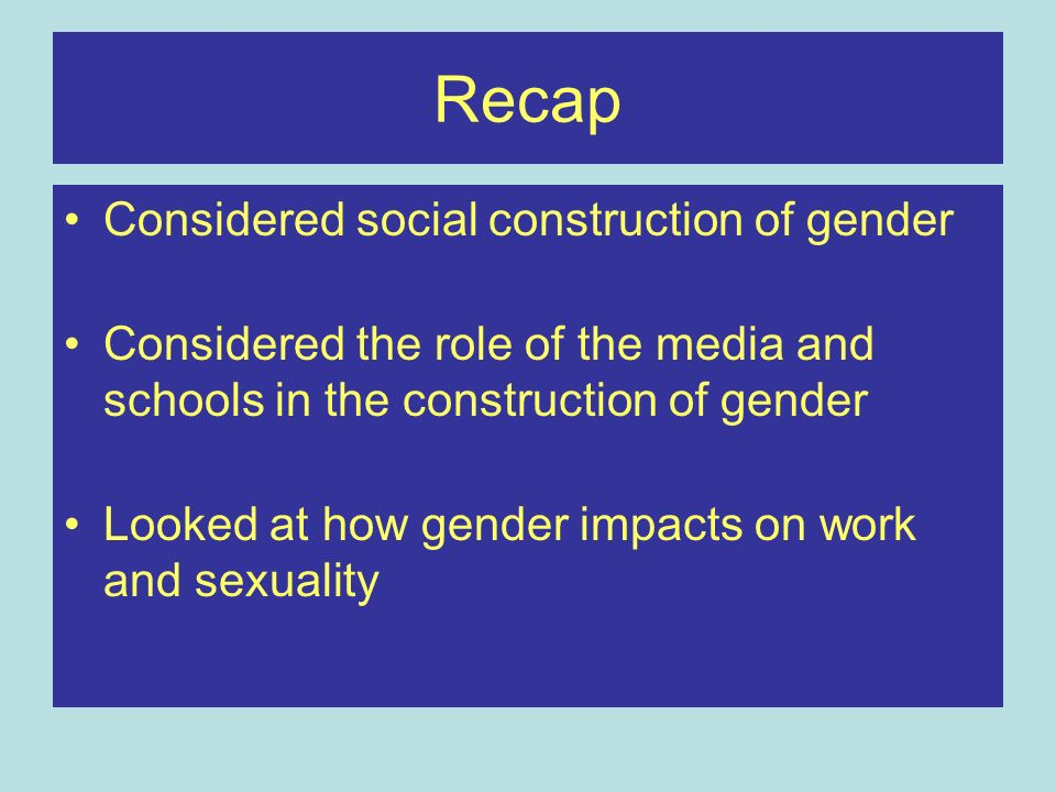 Sources of gender inequality Gendered socialisation of children Womens role as primary carer Gendered division of labour –In the home –In the workplace Unequal pay Barriers to power