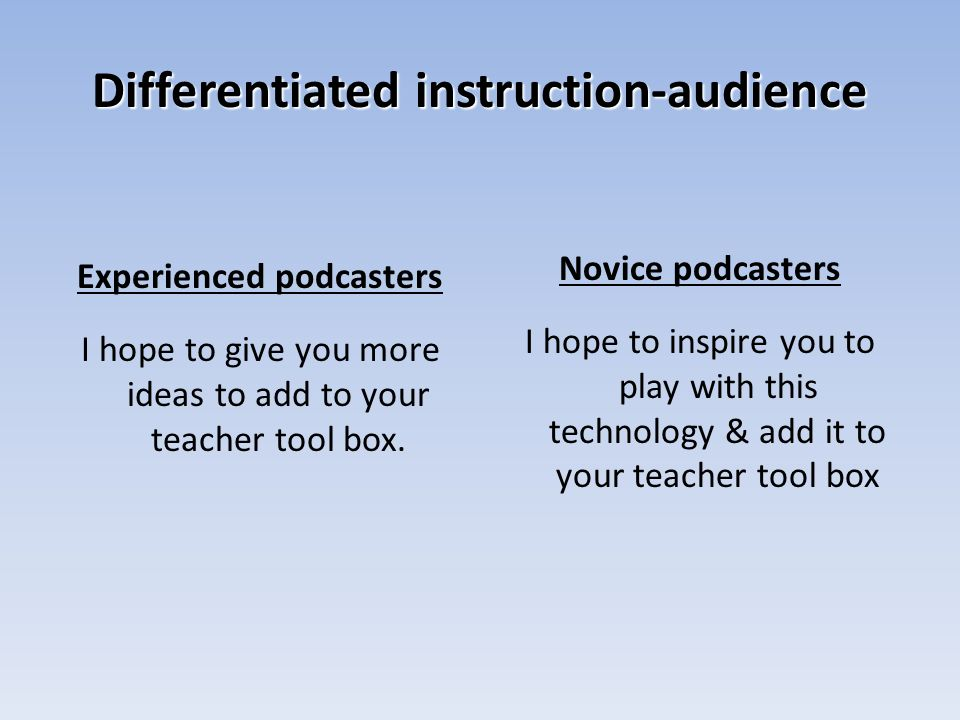 The technical stuff! Where do we get podcasts? How do we make them?