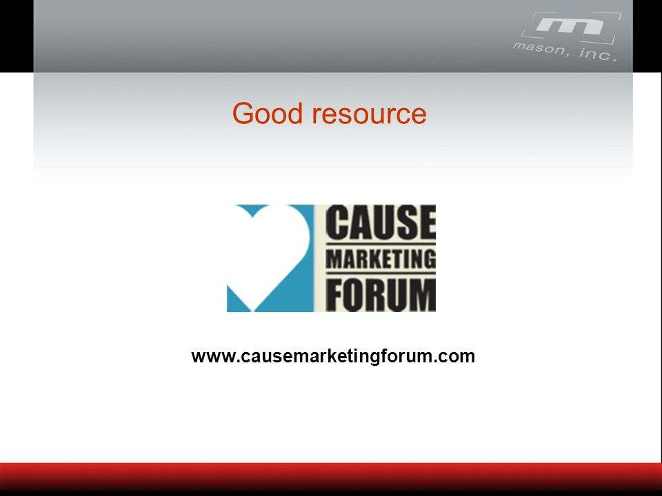 Good resource www.causemarketingforum.com