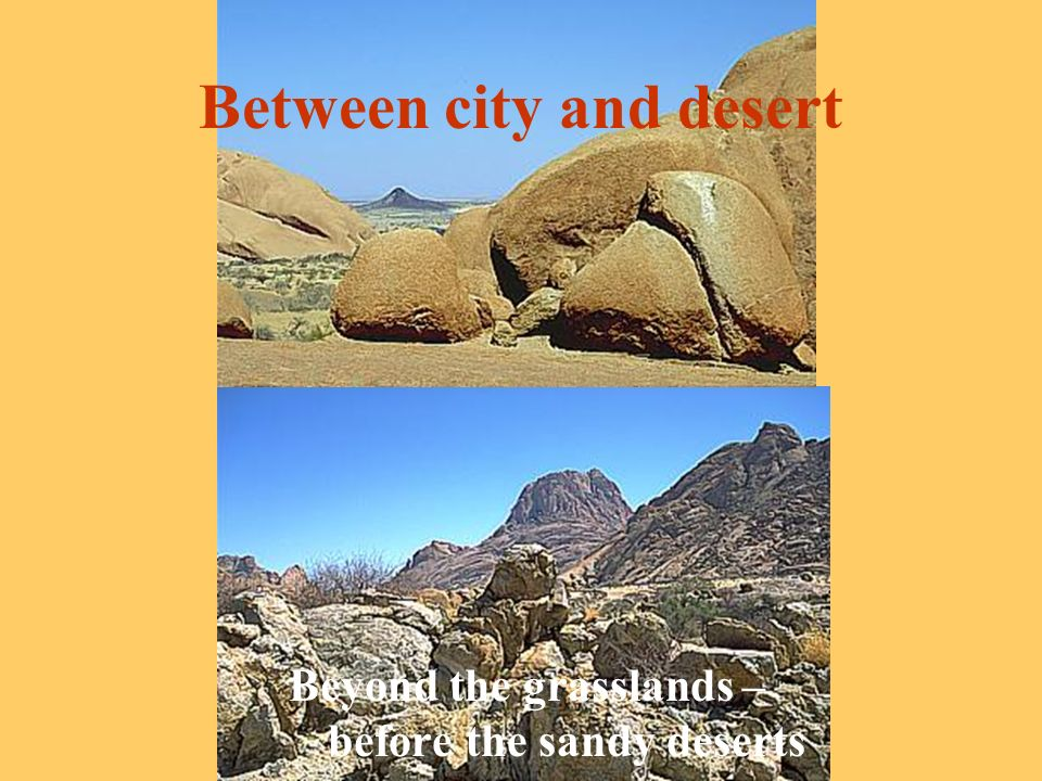 Between city and desert Beyond the grasslands – before the sandy deserts