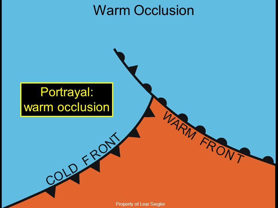 Property of Lear Siegler Warm Occlusion Portrayal: warm occlusion