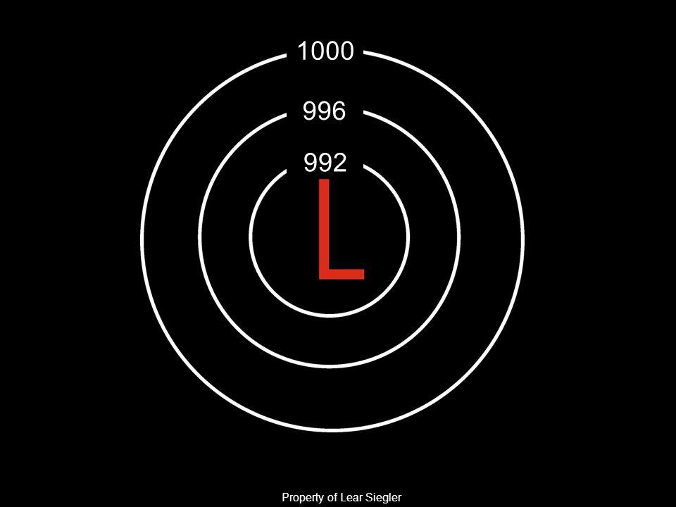 992 996 1000 Property of Lear Siegler