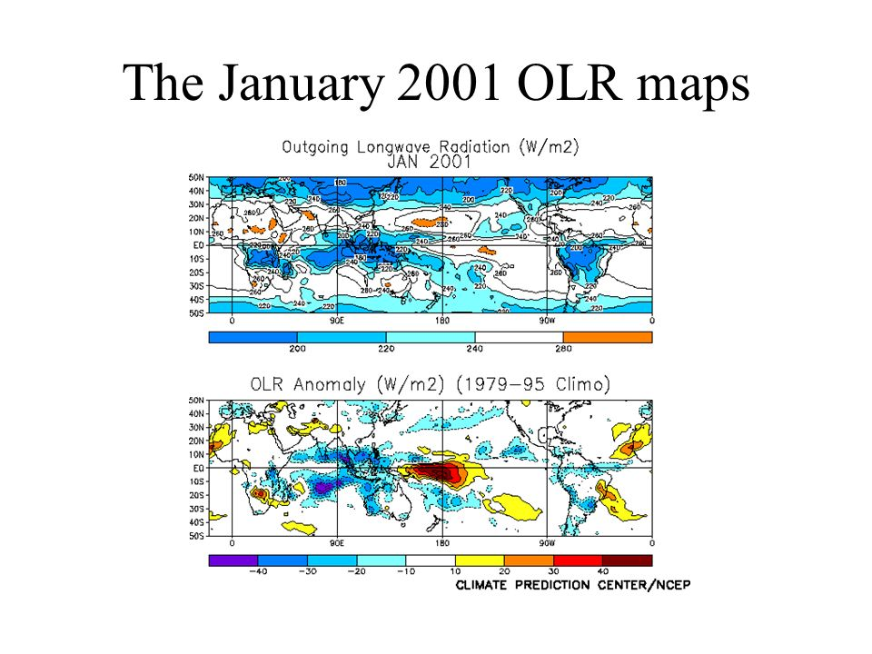 The January 2001 OLR maps