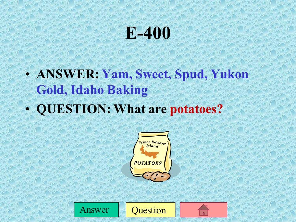 Question Answer E-300 ANSWER: Salsa, Tango, Meringue QUESTION: What are Latin dances?