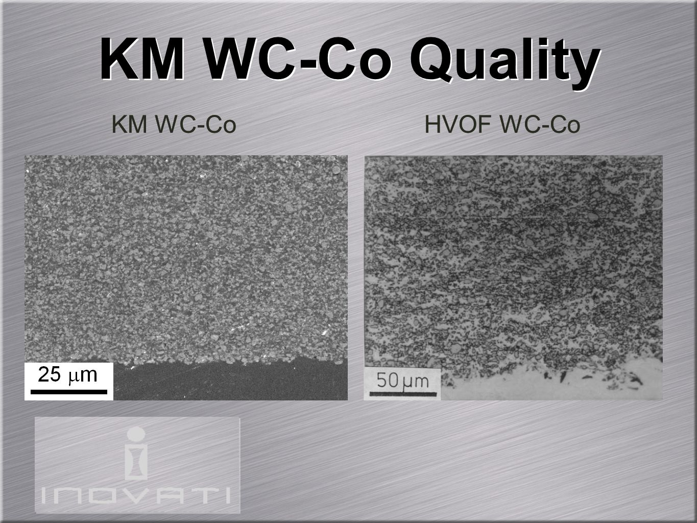 KM WC-Co Quality KM WC-Co HVOF WC-Co