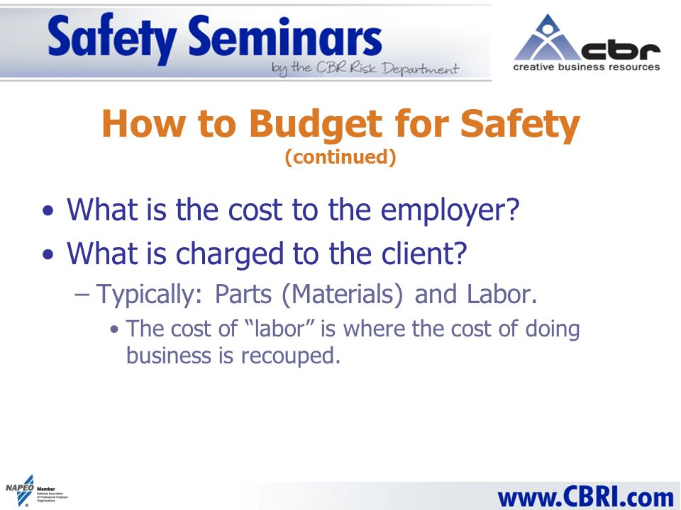 What is the cost to the employer. What is charged to the client.