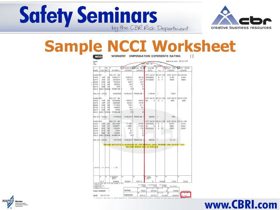 Sample NCCI Worksheet