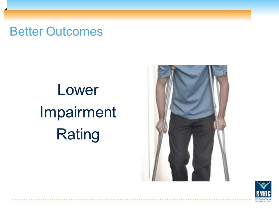 Lower Impairment Rating Better Outcomes